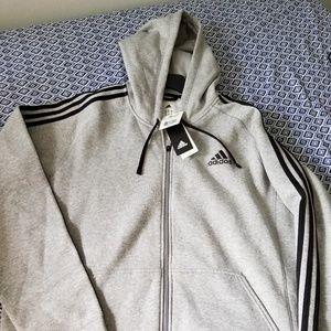 *NWT* Mens XL Adidas zip-up sweater